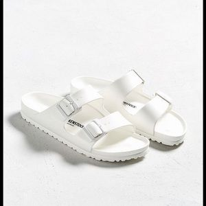 Birkenstock Arizona Eva Rubber Slides White 37